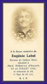 G n alogie eugenie lebel - Prenom isidore ...