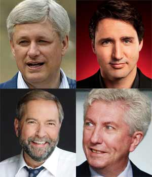 Candidats Elections Canada 2015